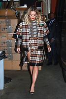 NEW YORK, NY February 1: Rita Ora at Live With Kelly &amp; Ryan  in New York City on February 1, 2018. <br /> CAP/MPI/RW<br /> &copy;RW/MPI/Capital Pictures