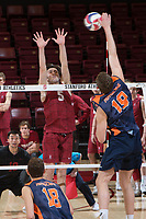 STANFORD, CA - March 3, 2018: JP Reilly at Maples Pavilion. The Stanford Cardinal lost to Pepperdine, 3-0.