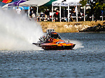 Lucas Oil Drag Boat Racing Series drag boats in action during  the Showdown in San Angelo drag boat race at Lake Nasworthy in San Angelo,Texas.