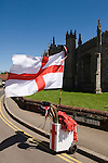 Flag of St George.  Morris dancing Thaxted Essex England
