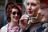 Women dressing up for Easter take part during the annual easter parade in Manhattan, New York City, 03.27.2016. This annual tradition has been taking place in New York City for over 100 years, Photo by VIEWpress.