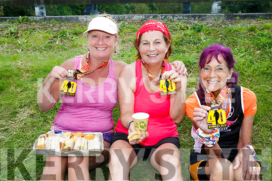 At the third annual Born to Run 40 Mile Ultra Marathon on Saturday were Carmel Hubbert, Julie Byrne and Collette O'Hagan