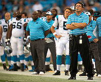 Sports action photography of the Carolina Panthers against the Buffalo Bills during their preseason NFL game at Bank of America Stadium in Charlotte, North Carolina.  <br /> <br /> Charlotte Photographer - Patrick SchneiderPhoto.com