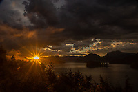 Sunset Over Sechelt Inlet, West Coast Wilderness Lodge, Egmont, Sunshine Coast, British Columbia, Canada