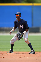 Shortstop Jorge Mateo (11) of the New York Yankees organization during a minor league spring training game against the Toronto Blue Jays on March 16, 2014 at the Englebert Minor League Complex in Dunedin, Florida.  (Mike Janes/Four Seam Images)