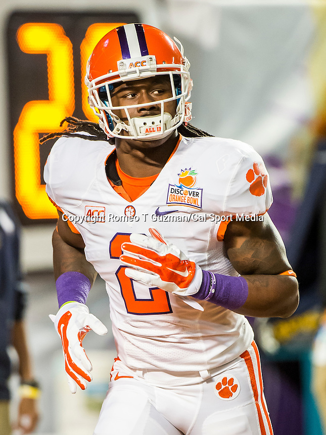 January 3, 2014 - Miami Gardens, Florida, U.S: Clemson Tigers wide receiver Sammy Watkins (2) warms up before the Discover Orange Bowl game between the Clemson Tigers and the Ohio State Buckeyes at Sun Life Stadium in Miami Gardens, Fl