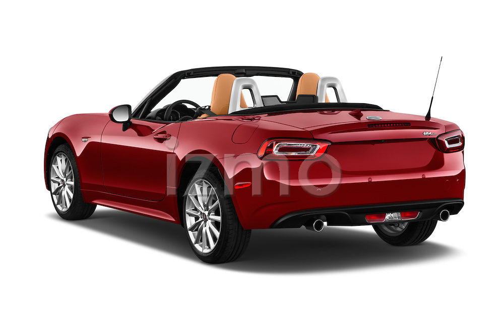 Car pictures of rear three quarter view of 2017 Fiat 124-Spider 1.4-Lusso 2 Door Convertible Angular Rear