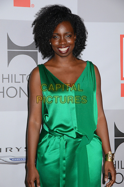 Adepero Oduye.NBC Universal Golden Globes After Party held at the Beverly Hilton Hotel, Hollywood, California, USA..January 15th, 2012.half length green sleeveless dress.CAP/ADM/BT.©Birdie Thompson/AdMedia/Capital Pictures.