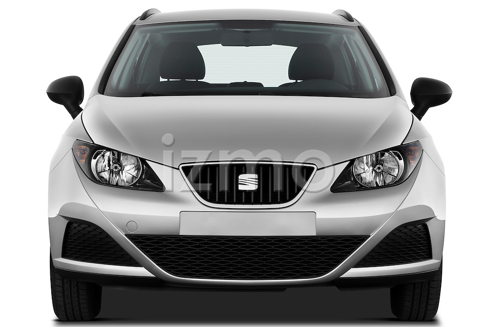Straight front view of 2010 Seat Ibiza ST 5 Door Wagon Stock Photo