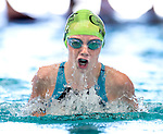 Cottonwood's Anna Hibbard competes in the 100 yard IM race during the 53rd annual Country Club Swimming Championships on Monday, Aug. 6, 2012, in Kearns, Utah. (© 2012 Douglas C. Pizac)