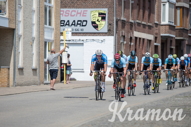 peloton through the streets of Tongeren.  during Lap n&deg;1 of 3<br /> <br /> <br /> Baloise Belgium Tour 2017 (2.HC)<br /> Stage 5: Tienen - Tongeren 169.6km