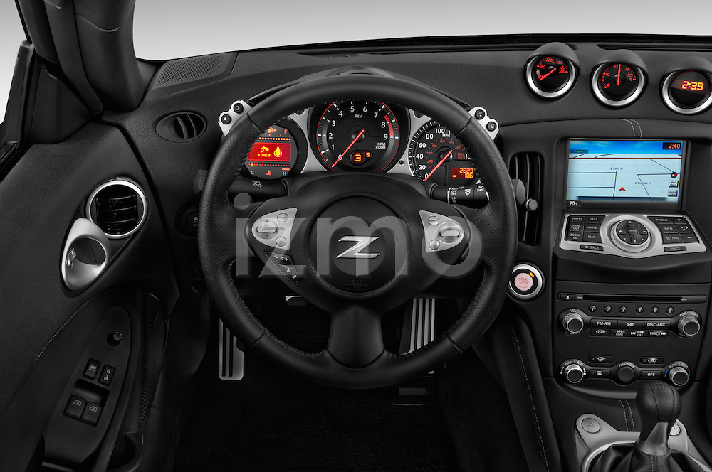 Steering wheel view of a 2013 Nissan 370Z AT Roadster