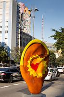 Sao Paulo (SP) 24/07/2019 - Esculturas da Ear Parede são vistas na Avenida Paulista  centro de São Paulo, nesta quarta-feira, 24.(Foto: Ciça Neder/Brazil Photo Press)