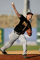 May 31 2009: Cory Riordan of the Modesto Nuts during game against the Lancaster JetHawks at Clear Channel Stadium in Lancaster,CA.  Photo by Larry Goren/Four Seam Images
