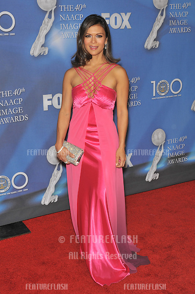 Nia Peebles at the 40th NAACP Image Awards at the Shrine Auditorium, Los Angeles..February 12, 2009 Los Angeles, CA.Picture: Paul Smith / Featureflash