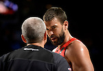 Spain's centre Marc Gasol during the 2014 FIBA World basketball championships quarters of final match Spain vs France at the Palacio de los Deportes in Madrid on September 10, 2014.  PHOTOCALL3000 / DP