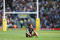 Henry Slade of Exeter Chiefs looks enviously towards the Saracens players win the Aviva Premiership Rugby Final between Exeter Chiefs and Saracens at Twickenham Stadium on Saturday 26th May 2018 (Photo by Rob Munro/Stewart Communications)