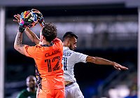 13th July 2020, Orlando, Florida, USA;  Portland Timbers goalkeeper Steve Clark (12) makes a save during the MLS Is Back Tournament between the LA Galaxy versus Portland Timbers on July 13, 2020 at the ESPN Wide World of Sports, Orlando FL.
