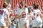 Los Angeles, CA 04/22/16 - Kylie Drexel (USC #23) in action during the NCAA Stanford-USC Division 1 women lacrosse game at the Los Angeles Memorial Coliseum.  USC defeated Stanford 10-9/