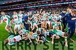 The Na Gaeil squad celebrate following the AIB GAA Football All-Ireland Junior Club Championship Final match between Na Gaeil and Rathgarogue-Cushinstown at Croke Park on Saturday.