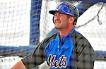 7 March 2009: New York Mets' catcher Brian Schneider takes batting practice prior to a Spring Training game against the Washington Nationals at Tradition Field in Port St. Lucie, Florida. The Nationals defeated the Mets 7-5 in the Grapefruit League matchup. Mandatory Photo Credit: Ed Wolfstein Photo