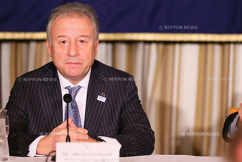 Alberto Zaccheroni, DECEMBER 16, 2013 - Football / Soccer : Italian Japan's national football team head coach Alberto Zaccheroni attends a press conference at Tokyo's Foreign Correspondents' Club of Japan, Tokyo, Japan.