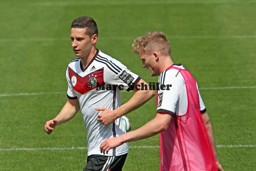 Julian Draxler und Andre Schürrle - Trainingslager der Deutschen Nationalmannschaft zur WM-Vorbereitung in St. Martin