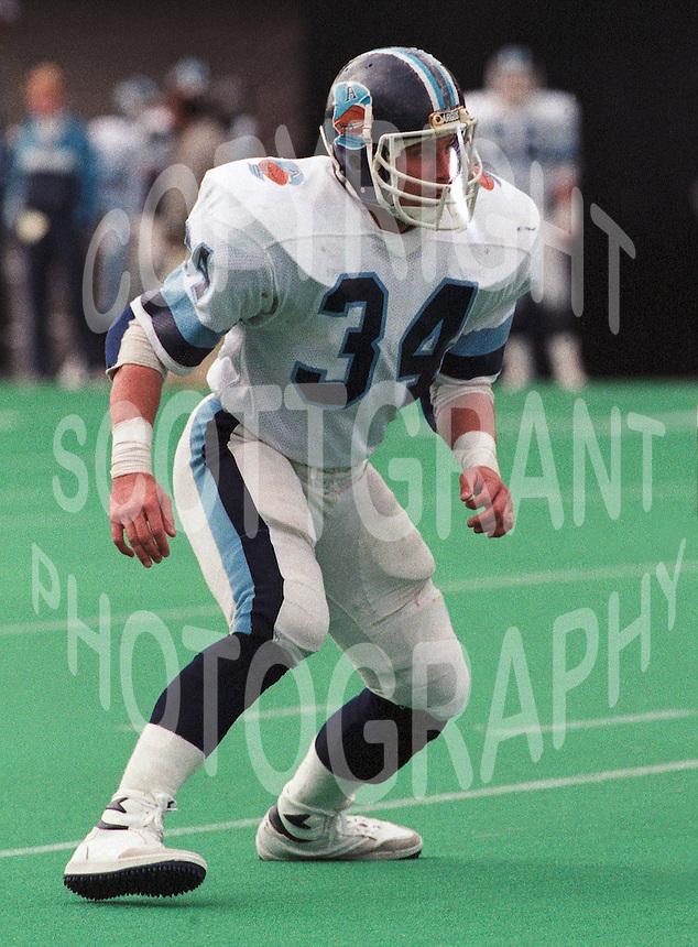 Bob Bronk Toronto Argonauts 1985. Copyright photograph Scott Grant/