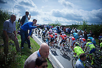 fans cheer on the peloton on top of the 1st climb of the day: the Côte de La Roche-en-Ardenne (2900m/5.6%)<br /> <br /> 101th Liège-Bastogne-Liège 2015