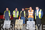 Sub Contractors, early morning road closure protest on the on the Annascaul N86 Road on Tuesday morning .Jimmy O' Dwyer, Camp, Councillor Seamus Coasi Fitzgerald, Michael Greaney, PJ Herlihy Camp and Michael Healy Rae, TD..Sub Contractors, early morning road closure protest on the on the Annascaul N86 Road on Tuesday morning .Jimmy O' Dwyer, Camp, Councillor Seamus Coasi Fitzgerald, Michael Greaney, PJ Herlihy Camp and Michael Healy Rae, TD..