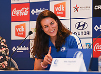 20190819 – GENT, BELGIUM : Gent's Nicole Studer pictured during a pre-season press conference presenting the new players  , new staff and new methods for the next season 2019-2020 for the AA Gent Ladies in the Belgian top division – The Superleague -  , Monday 19 th August 2019 at the Ghelamco Stadium in GENT  , Belgium  .  PHOTO SPORTPIX.BE | DAVID CATRY