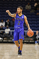 Washington, DC - December 22, 2018: Hampton Pirates guard Jermaine Marrow (2) calls a play during the DC Hoops Fest between Hampton and Howard at  Entertainment and Sports Arena in Washington, DC.   (Photo by Elliott Brown/Media Images International)