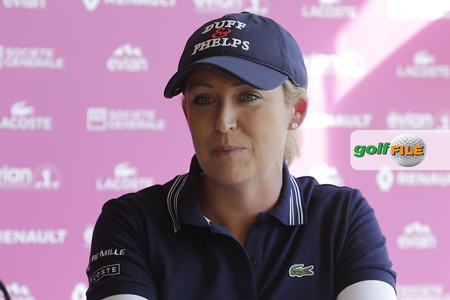 Kristie Kerr (USA) at the opening press conference during Wednesday's Pro-Am of the LPGA 2015 Evian Championship, Evian les Bains, France. 09/09/2015.<br /> Picture Eoin Clarke   Golffile