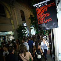 Edizione 2011 Fashion Night Out in via Montenapoleone..2011 edition of Fashion Night Out in Via Montenapoleone in Milan