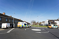 An area around Marine Street in the Seaside area of Llanelli has been cordoned off by Dyfed-Powys Police in west Wales, UK. Tuesday 26 March 2019