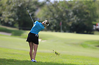 Jesica Korda (USA) plays her 3rd shot on the 7th hole during Thursday's Round 1 of The Evian Championship 2018, held at the Evian Resort Golf Club, Evian-les-Bains, France. 13th September 2018.<br /> Picture: Eoin Clarke | Golffile<br /> <br /> <br /> All photos usage must carry mandatory copyright credit (&copy; Golffile | Eoin Clarke)