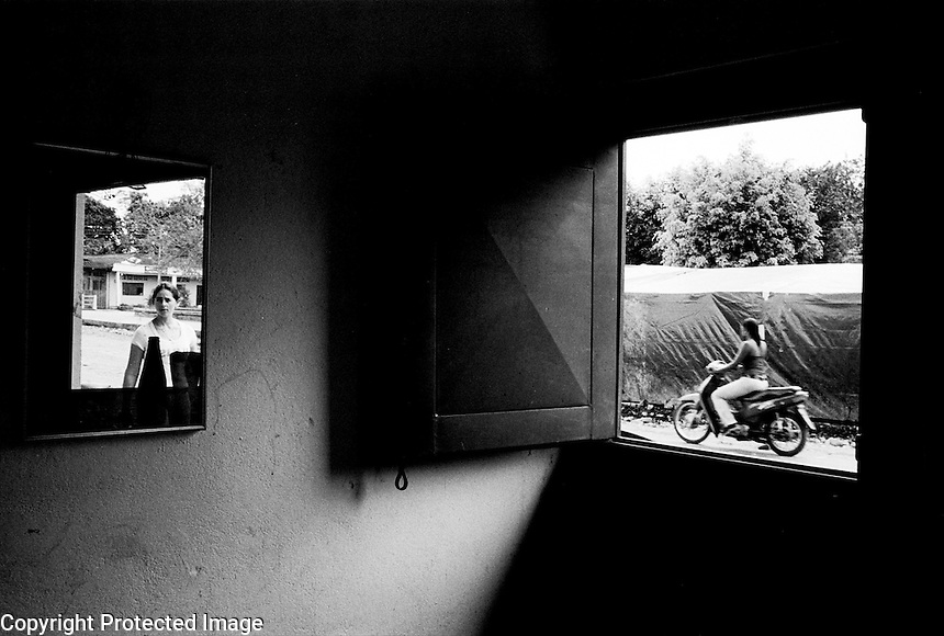 Small town in Putumayo is a paramilitary stronghold. .La Dorada, Colombia 2003.<br />