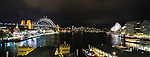 Sydney Harbour Bridge & Opera House at night, Sydney, NSW, Australia