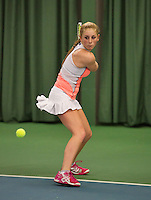 Rotterdam, The Netherlands, 15.03.2014. NOJK 14 and 18 years ,National Indoor Juniors Championships of 2014, Britt Schreuder (NED)<br /> Photo:Tennisimages/Henk Koster