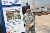 - Camp Ederle US Army base, yard for the widening of accommodations for US soldiers of 173a the Airborne Brigade ....- base US Army di caserma Ederle, cantiere per l'ampliamento degli alloggi per i militari USA della 173a Brigata Aerotrasportata