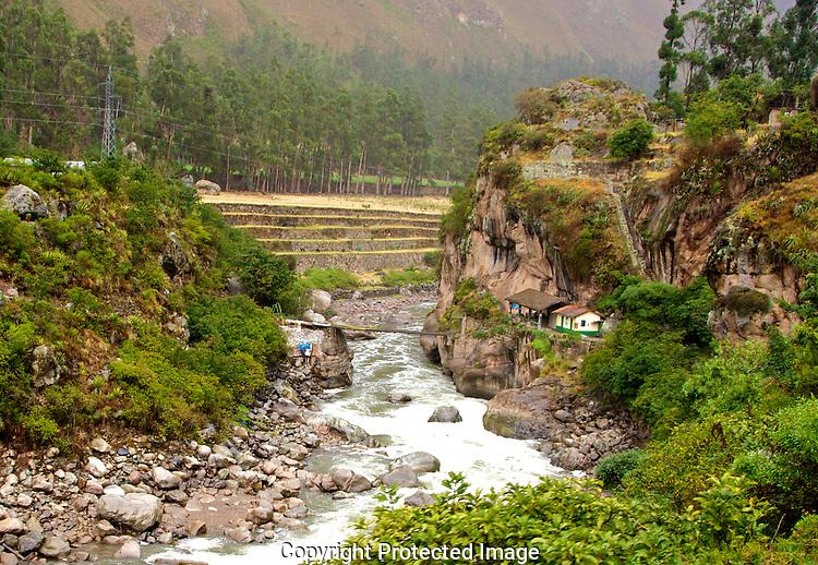 This bridge starts the Inca Trail.