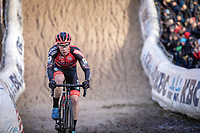 Laurens Sweeck (BEL/Pauwels Sauzen - Bingoal) in the infamous Pit <br /> <br /> CX Superprestige Zonhoven (BEL) 2019<br /> Elite & U23 mens race