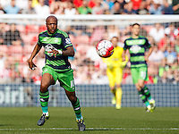 Andre Ayew during the Barclays Premier League match between Southampton v Swansea City played at St Mary's Stadium, Southampton