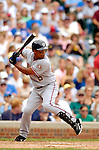 1 July 2005: Jose Guillen, outfielder for the Washington Nationals, at bat against the Chicago Cubs as the visiting Nationals defeated the Cubs 4-3 at Wrigley Field in Chicago.  Mandatory Photo Credit: Ed Wolfstein