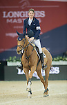 Daniel Deusser of Germany riding Happiness van T Paradijs wins the Longines Speed Challenge, part of the Longines Masters of Hong Kong on 11 February 2017 at the Asia World Expo in Hong Kong, China. Photo by Victor Fraile / Power Sport Images