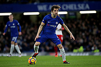 Cesc Fabregas of Chelsea in action during Chelsea vs West Bromwich Albion, Premier League Football at Stamford Bridge on 12th February 2018