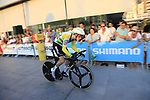 Australian NAtional Champion Rohan Dennis (AUS) BMC Racing Team during Stage 1 of the La Vuelta 2018, an individual time trial of 8km running around Malaga city centre, Spain. 25th August 2018.<br /> Picture: Ann Clarke | Cyclefile<br /> <br /> <br /> All photos usage must carry mandatory copyright credit (&copy; Cyclefile | Ann Clarke)
