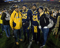 California quarterback Zach Maynard, California wide receiver Keenan Allen and their parents pose together for group photo before the game against Oregon at Memorial Stadium in Berkeley, California on November 10th, 2012.   Oregon Ducks defeated California Bears, 59-17.