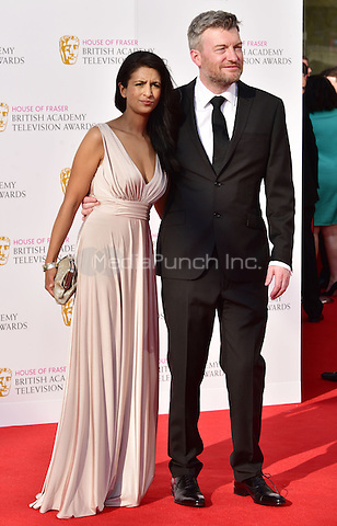 LONDON, ENGLAND - MAY 08: Konnie Huq, Charlie Brooker at he British Academy (BAFTA) Television Awards 2016, Royal Festival Hall, Belvedere Road, London, England, UK, on Sunday 08 May 2016.<br /> CAP/JOR<br /> &copy;JOR/Capital Pictures /MediaPunch ***NORTH AMERICA AND SOUTH AMERICA ONLY***