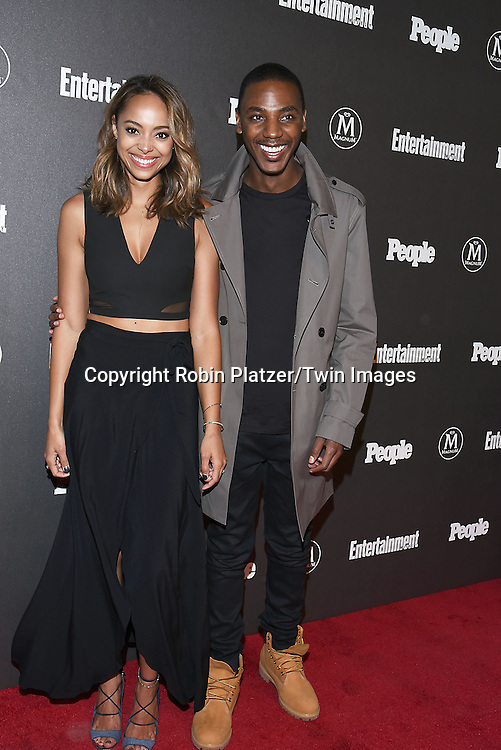 Amber Stevens West and Jerrod Carmichael attend the Entertainment Weekly &amp; PEOPLE Magazine New York Upfronts Celebration on May 16, 2016 at Cedar Lake in New York, New York, USA.<br /> <br /> photo by Robin Platzer/Twin Images<br />  <br /> phone number 212-935-0770